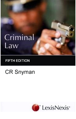 Criminal Law by CR Snyman