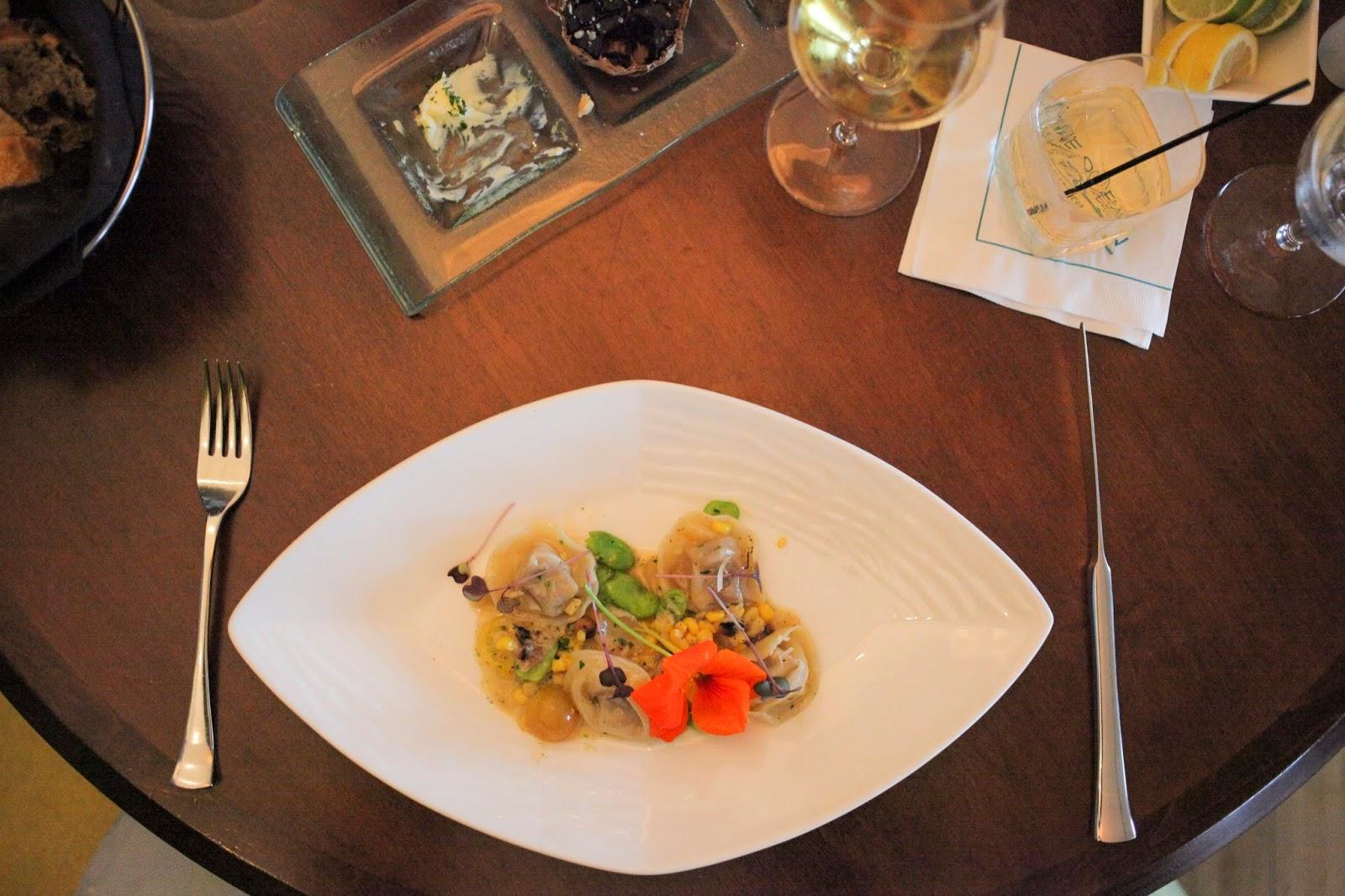 Foie Gras tortellini at Azurea
