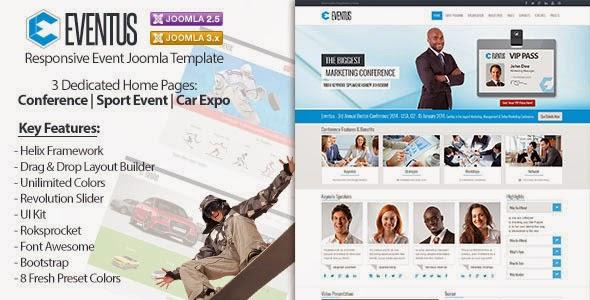 Eventus – Responsive Event Joomla Template
