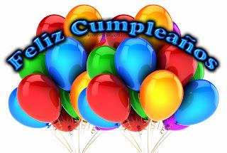 feliz cumpleaños tarjeta con globos de colores