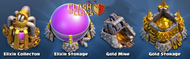 gold elixir Clash of clans