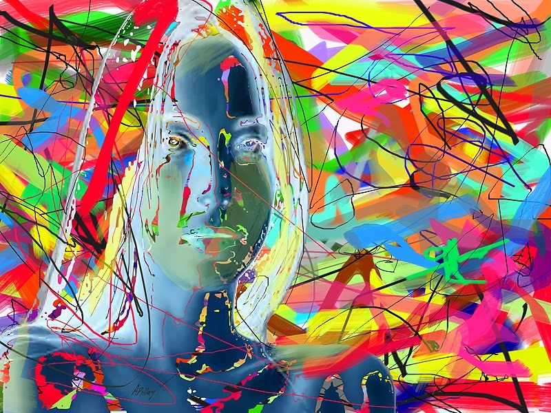 abstract portrait digital art prints