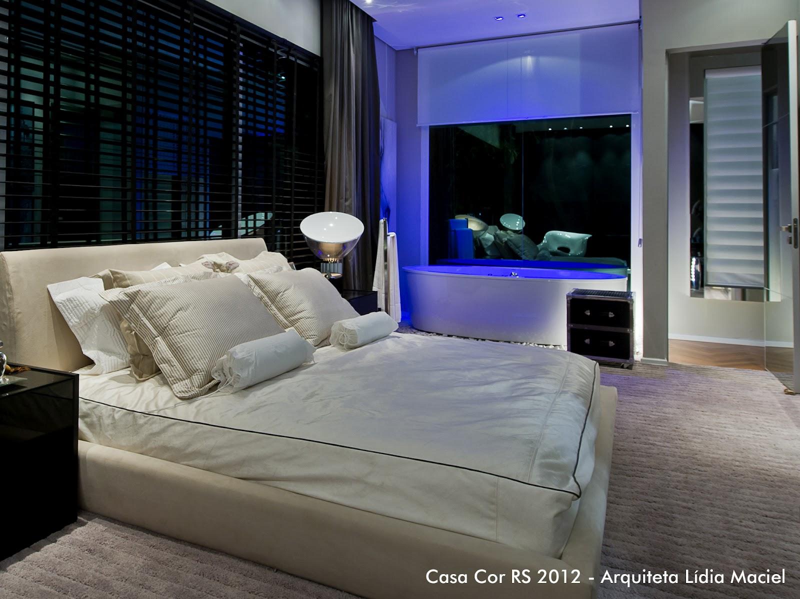 Banheiro e quarto integrados com a banheira Luau ACÁCIO BRINDO #354296 1600 1198
