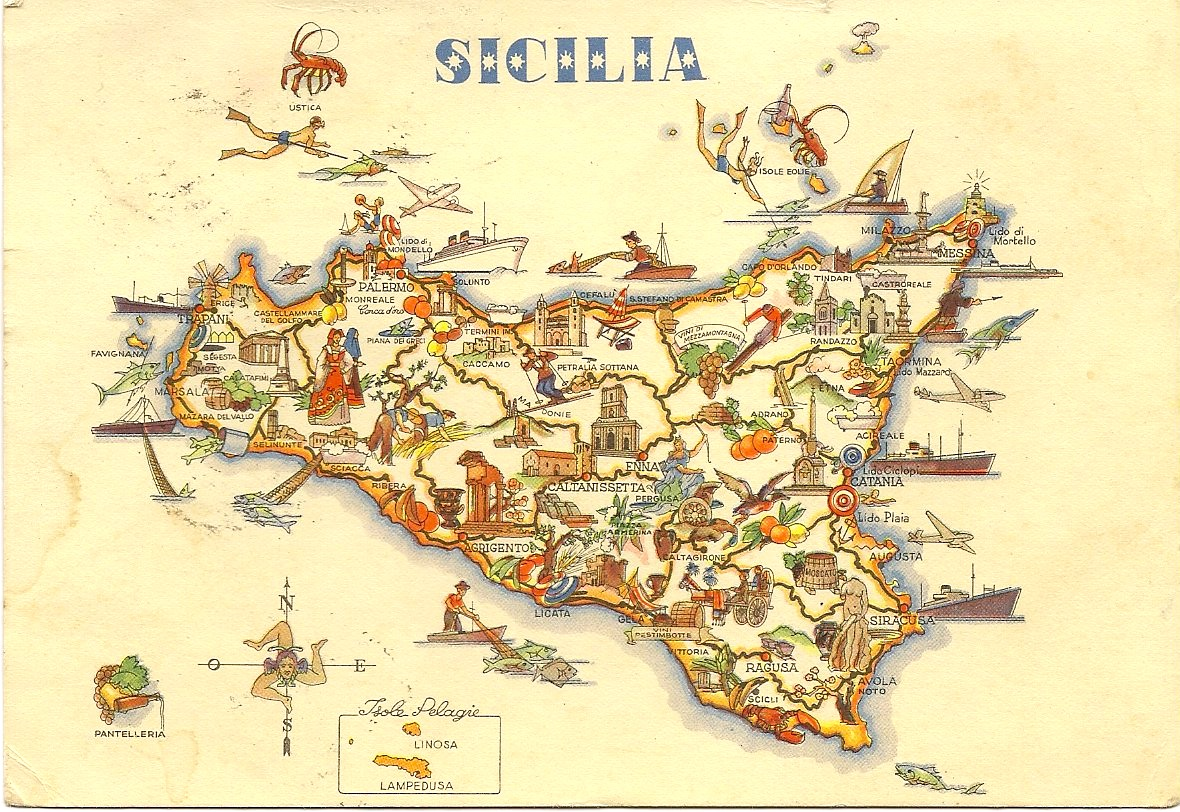 Uibles A Family Blog April 2014 – Sicily Tourist Map