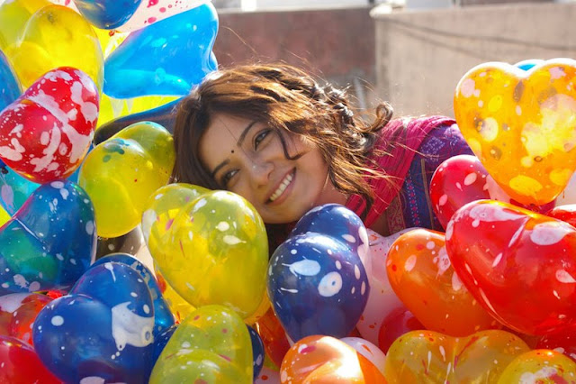 samantha with colorful balloons hot  photoshoot