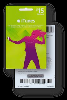 Tarjeta iTunes Gift Card de 15 dólares sin Raspar
