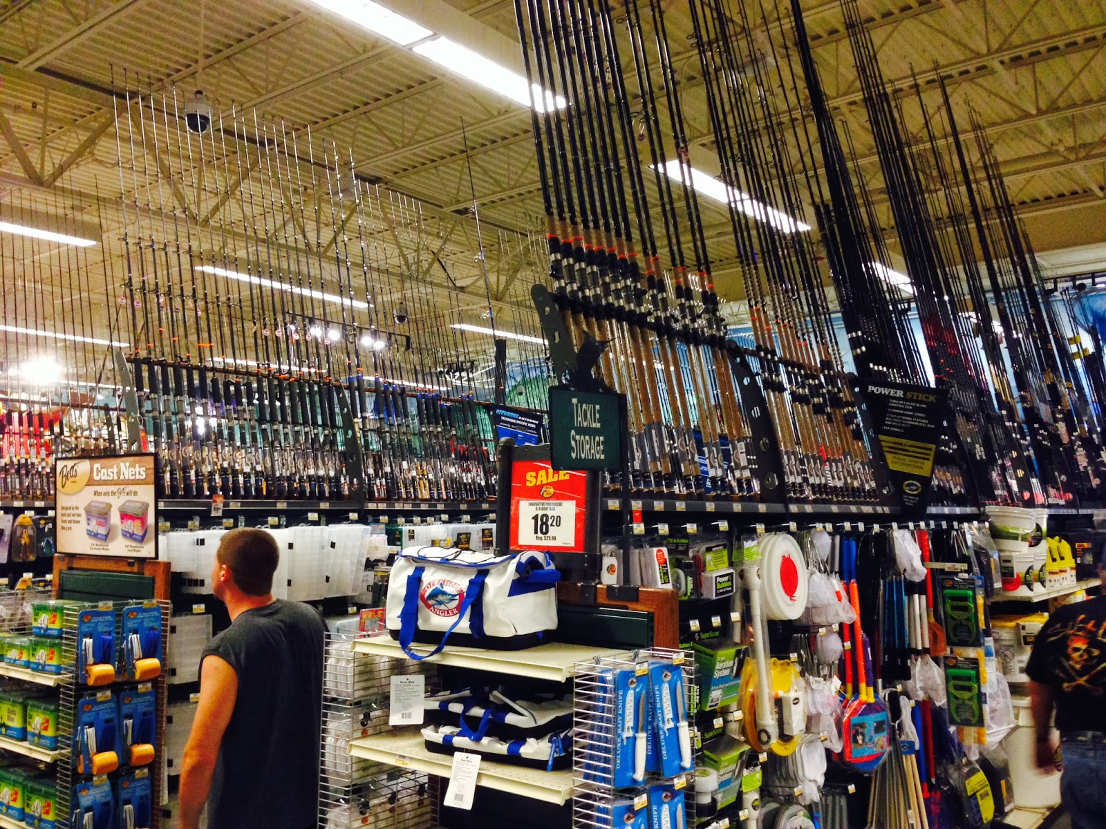 Grand opening bass pro shops sportsman 39 s center the for Bass pro shop fishing line
