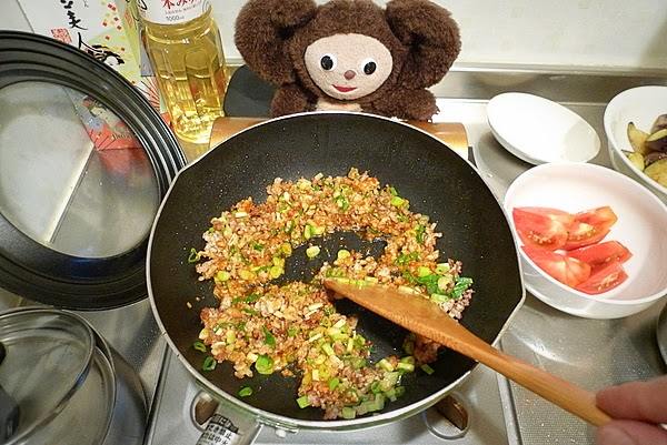 トマトの入った麻婆ナスの作り方(2)