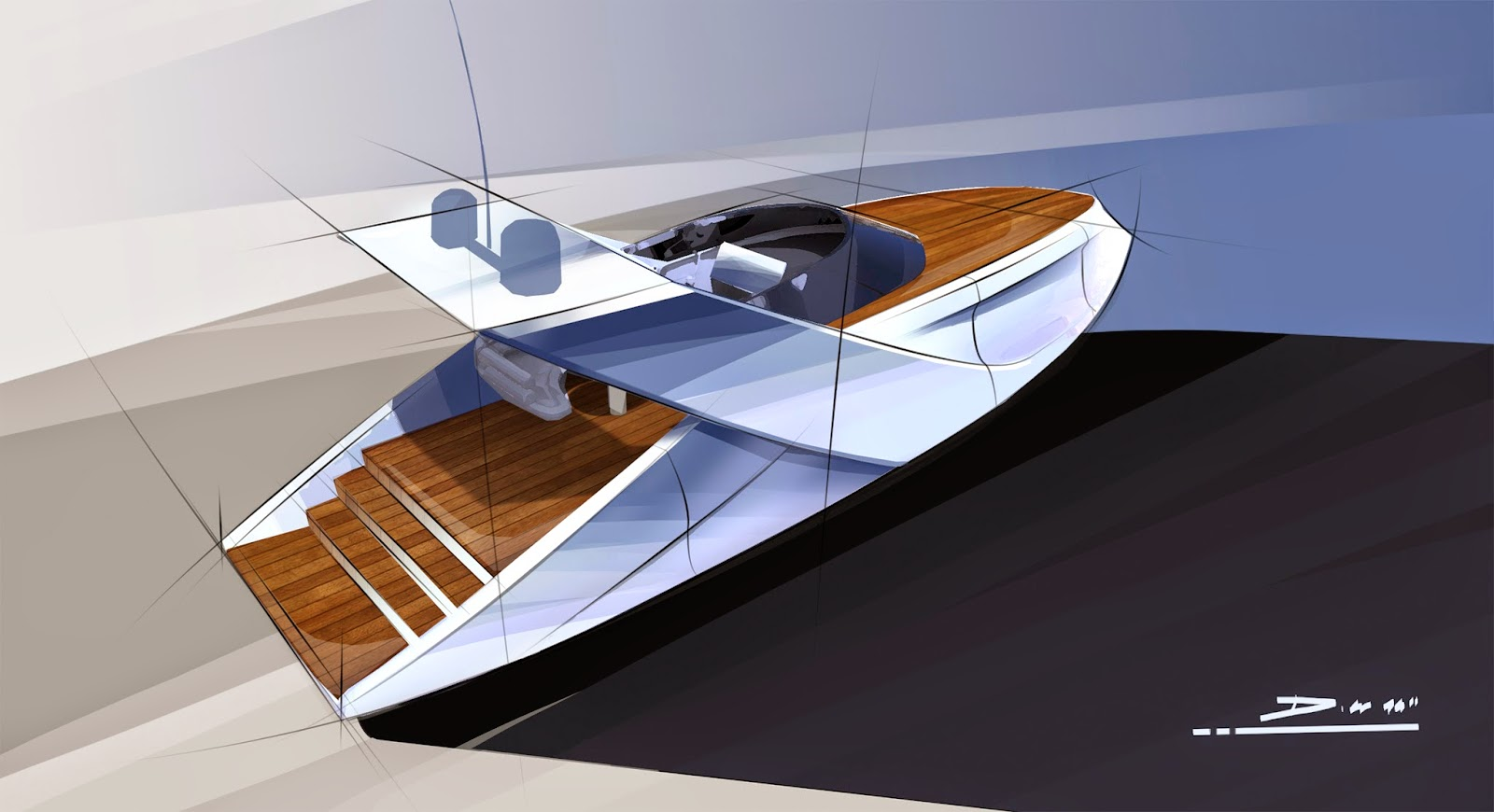 Car design sketches and drawings january 2015 for Mercedes benz yacht cost