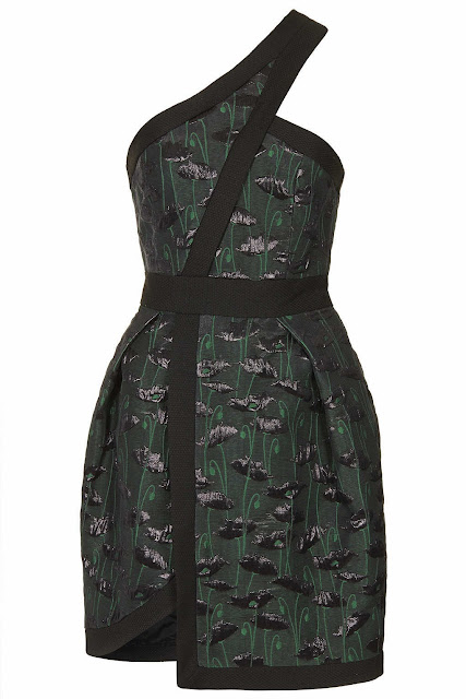 dark green dress topshop
