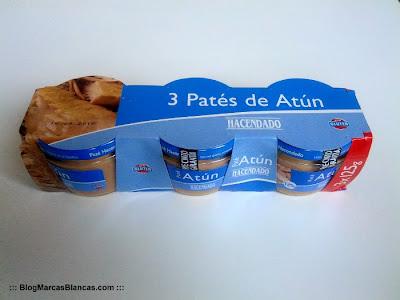 Paté de atún Hacendado de Mercadona fabricado por Casa Tarradellas.