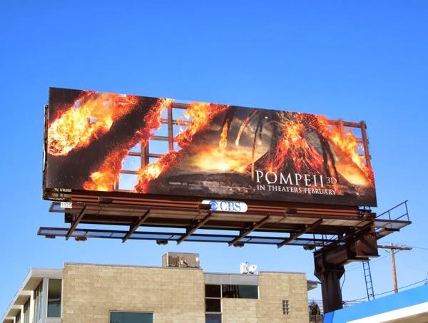 Pompeii movie billboard