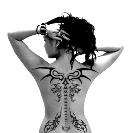 Tattoo designs can depict