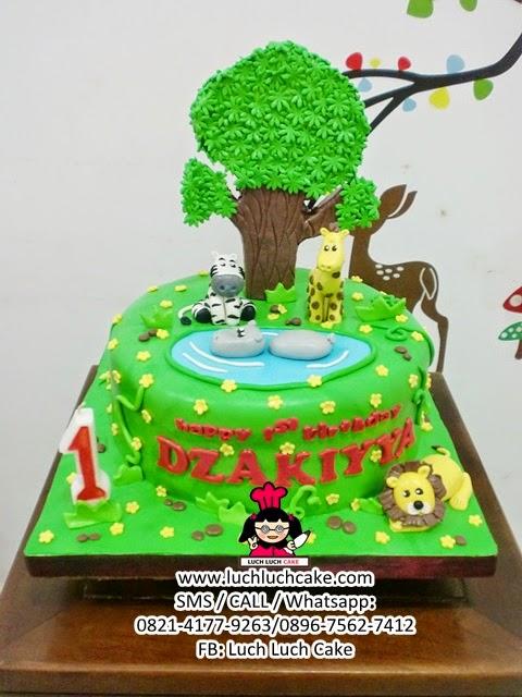 Kue Tart Tema Binatang First Birthday Daerah Surabaya - Sidoarjo