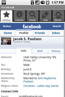 facebook for android gadget