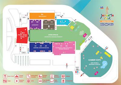 Map Area Jakarta Fair 2015