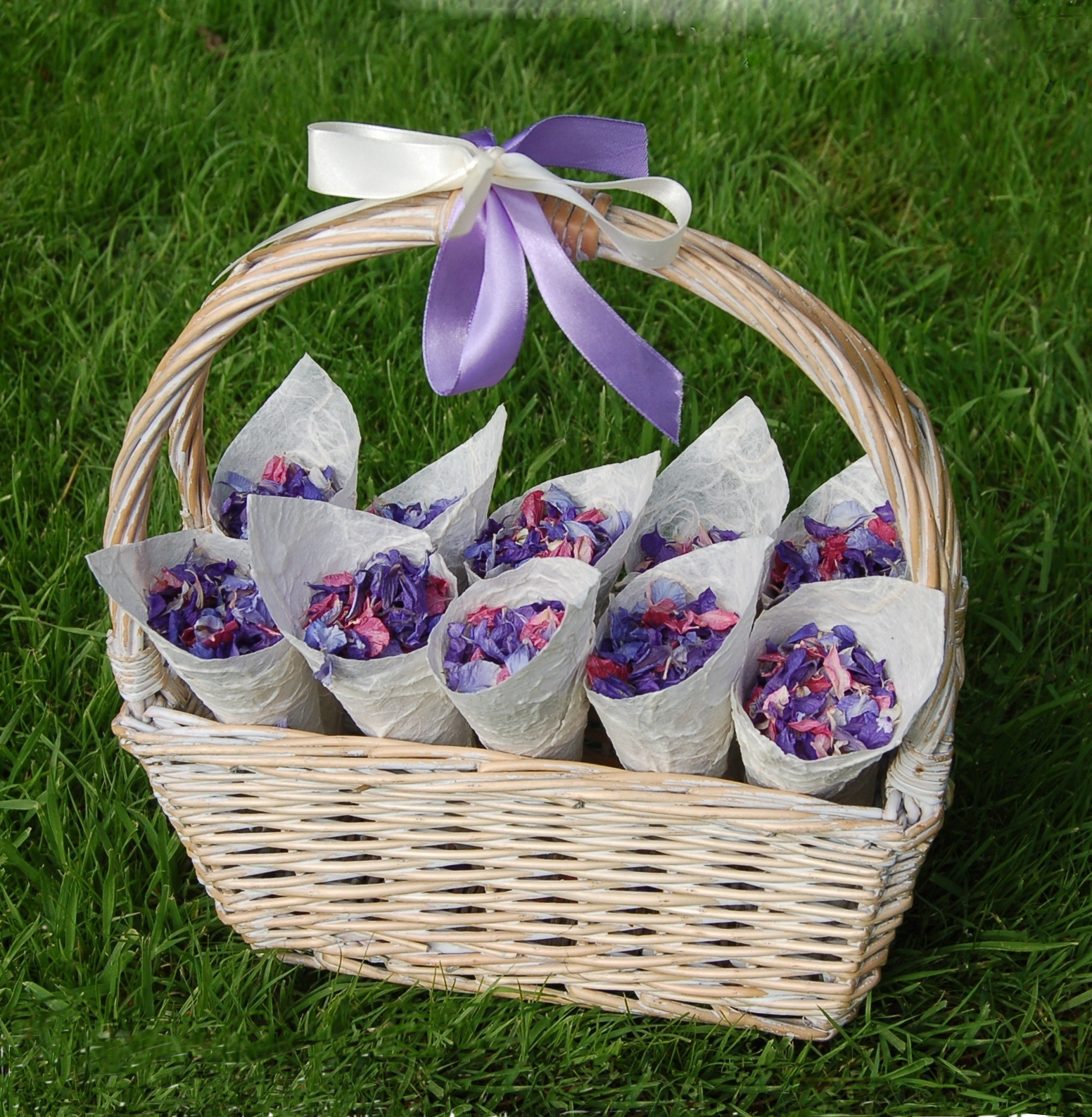 Wedding Baskets For Flower Petals : The confetti purple wedding themes ideas flowers