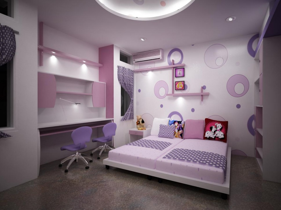 Interior design nice colorful kids interior design for Beautiful bedroom decor ideas