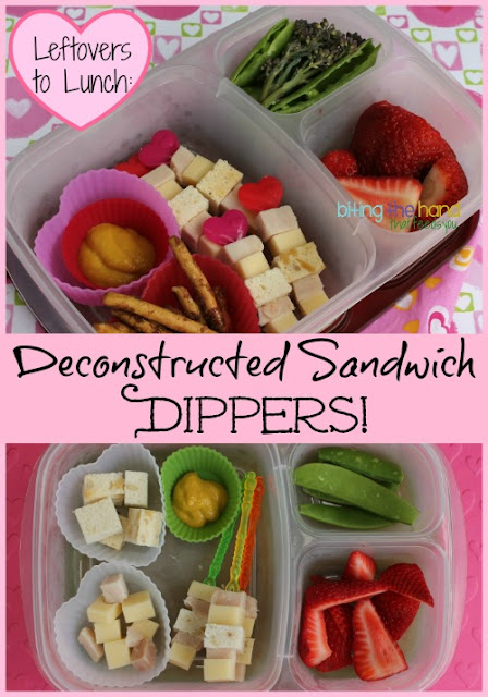 Leftovers to Lunch: Use leftover dinner meat for Deconstructed Sandwich Skewers!