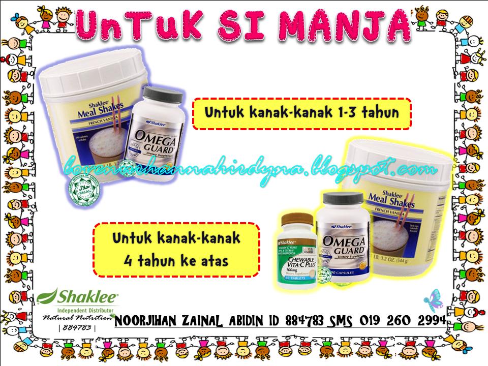 set cadangan vitamin untuk kanak-kanak