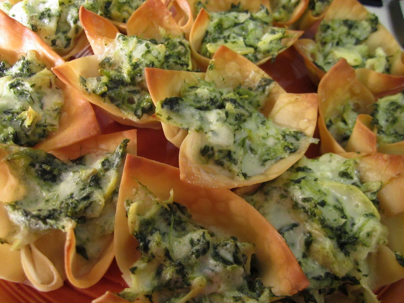 True Laurel: Spinach-Artichoke Party Cups