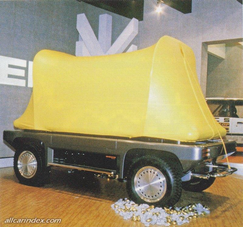 Daihatsu Trek, off road, koncept, prototyp, Tokyo Motor Show 1985, jeżdżace łóżko, namiot, jednoosobowy, ciekawostka, japonia, JDM, namiot