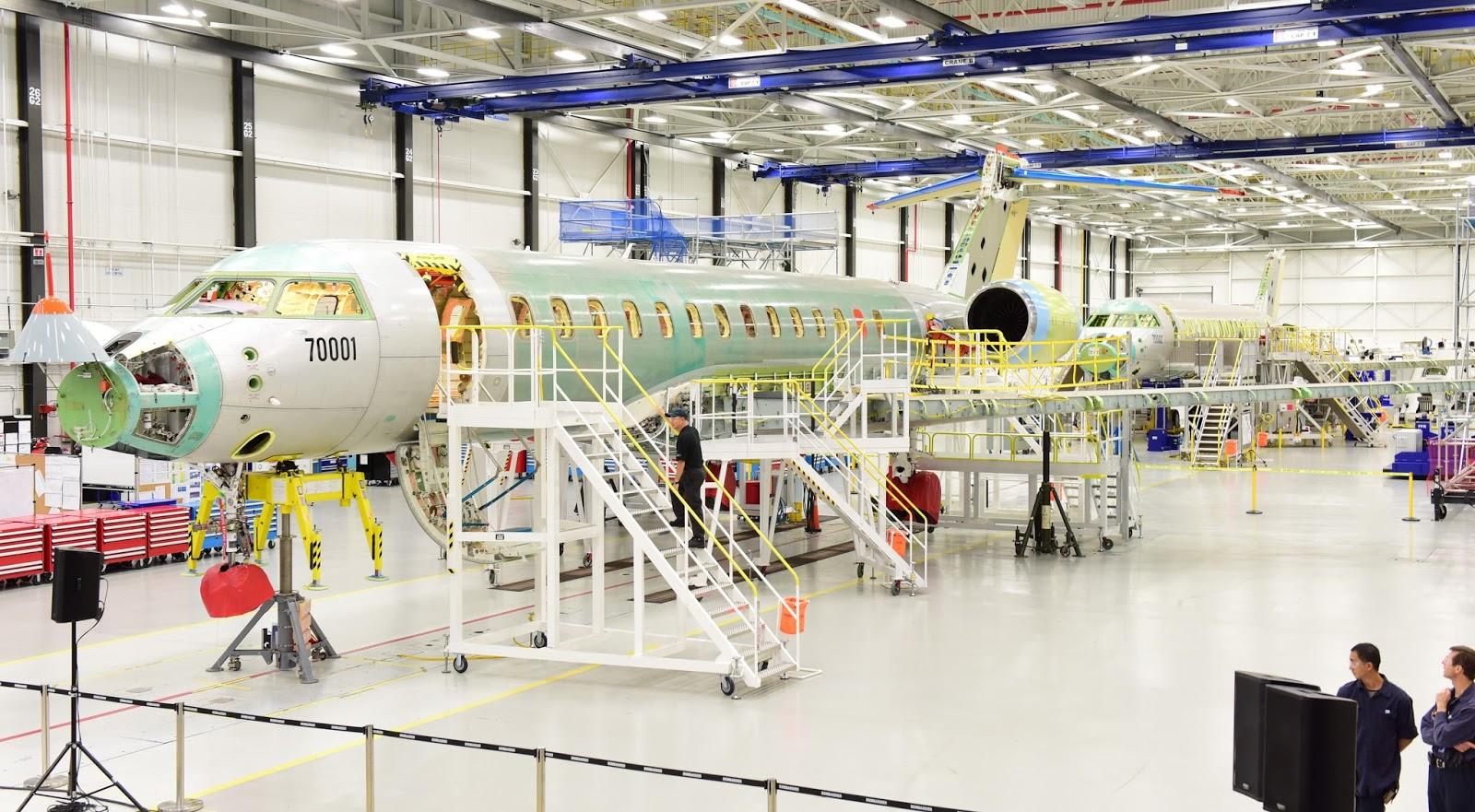 É MAIS QUE VOAR | Bombardier apresenta os dois primeiros Global 7000 em Linha de Produção