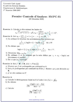 premiere controle d'analyse smpc-s1 semlalia