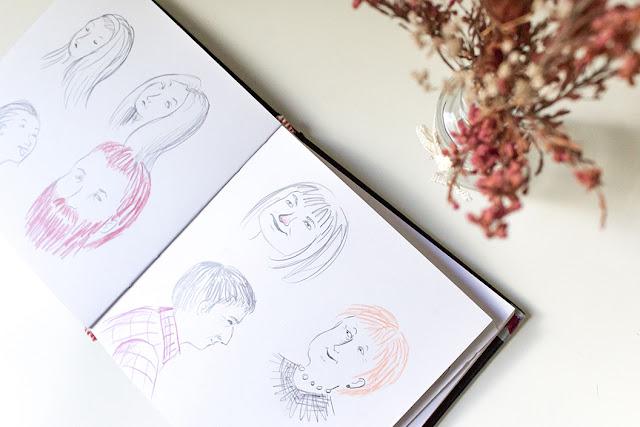 Mar Villar, dibujos del cuaderno de bocetos
