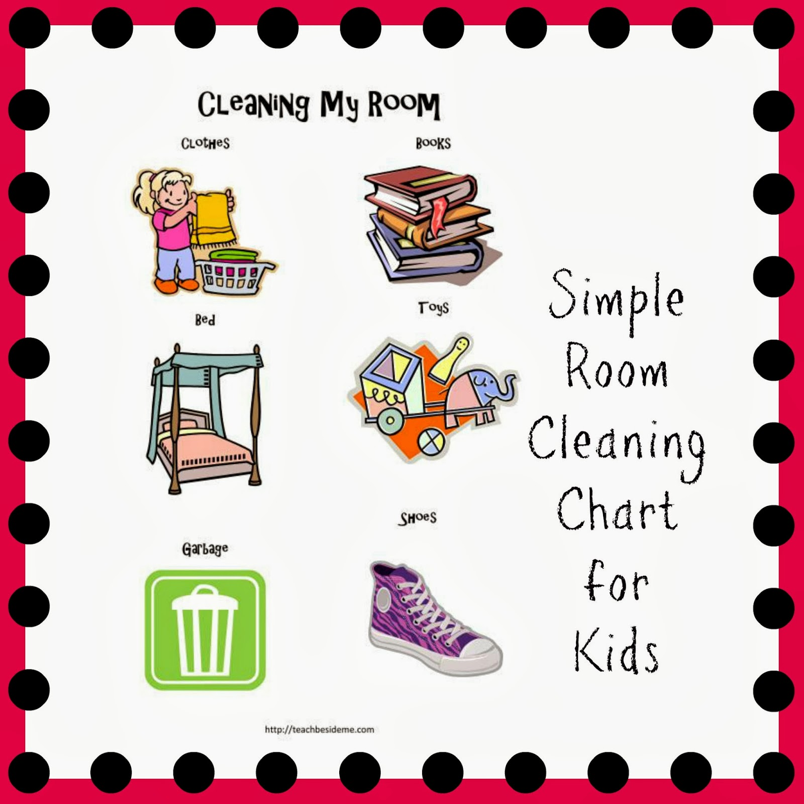 Room Cleaning Chart for Toddlers and Preschoolers - Teach