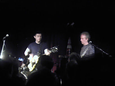 Richard Barone and Rob Norris of The Bongos at Maxwell's Wednesday.