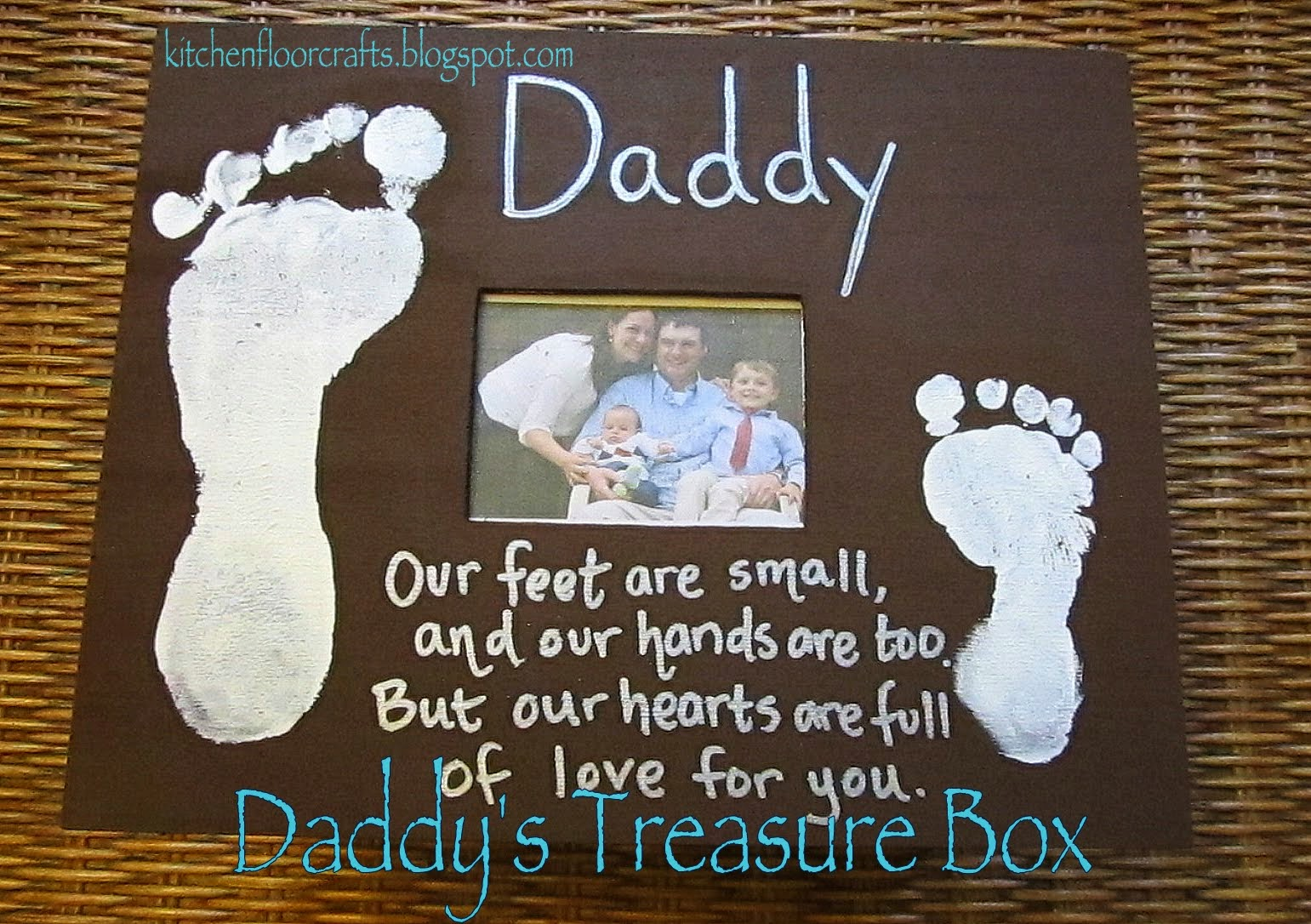Kitchen Floor Crafts A Treasure Box For Daddy