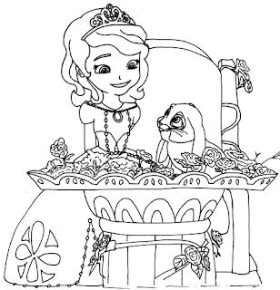 Mari Mewarnai Gambar Putri Sofia