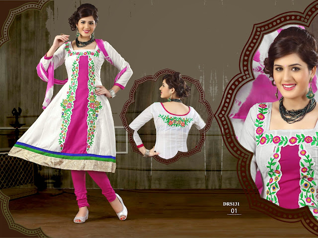 New Embroidered Cotton Dress Material Collection
