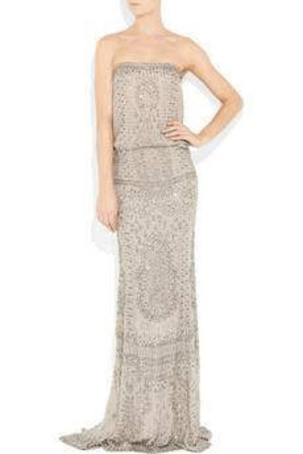 Kaufman Franco dress design - embellished silk-chiffon gown