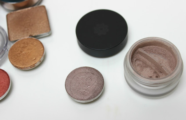 A picture of MAC Satin Taupe and Lily Lolo Miami Taupe
