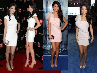 Branco e tons pastéis: Vestidos claros de Selena Gomes