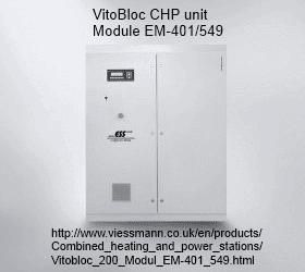 VitoBloc CHP unit Module EM-401/549