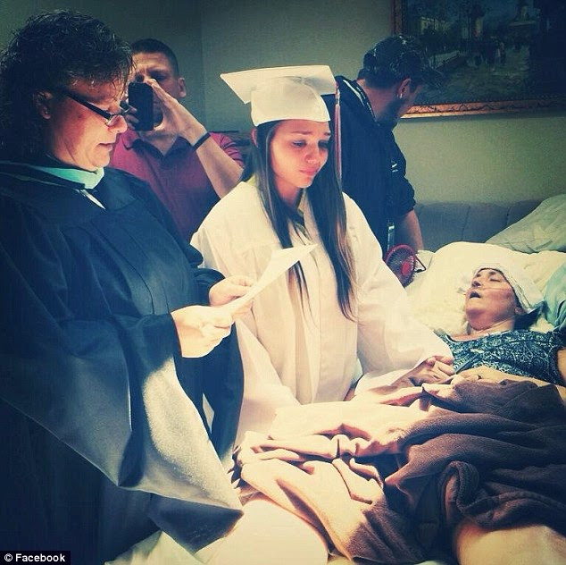 High School Student Moves Her Graduation To Her Dying Mother's