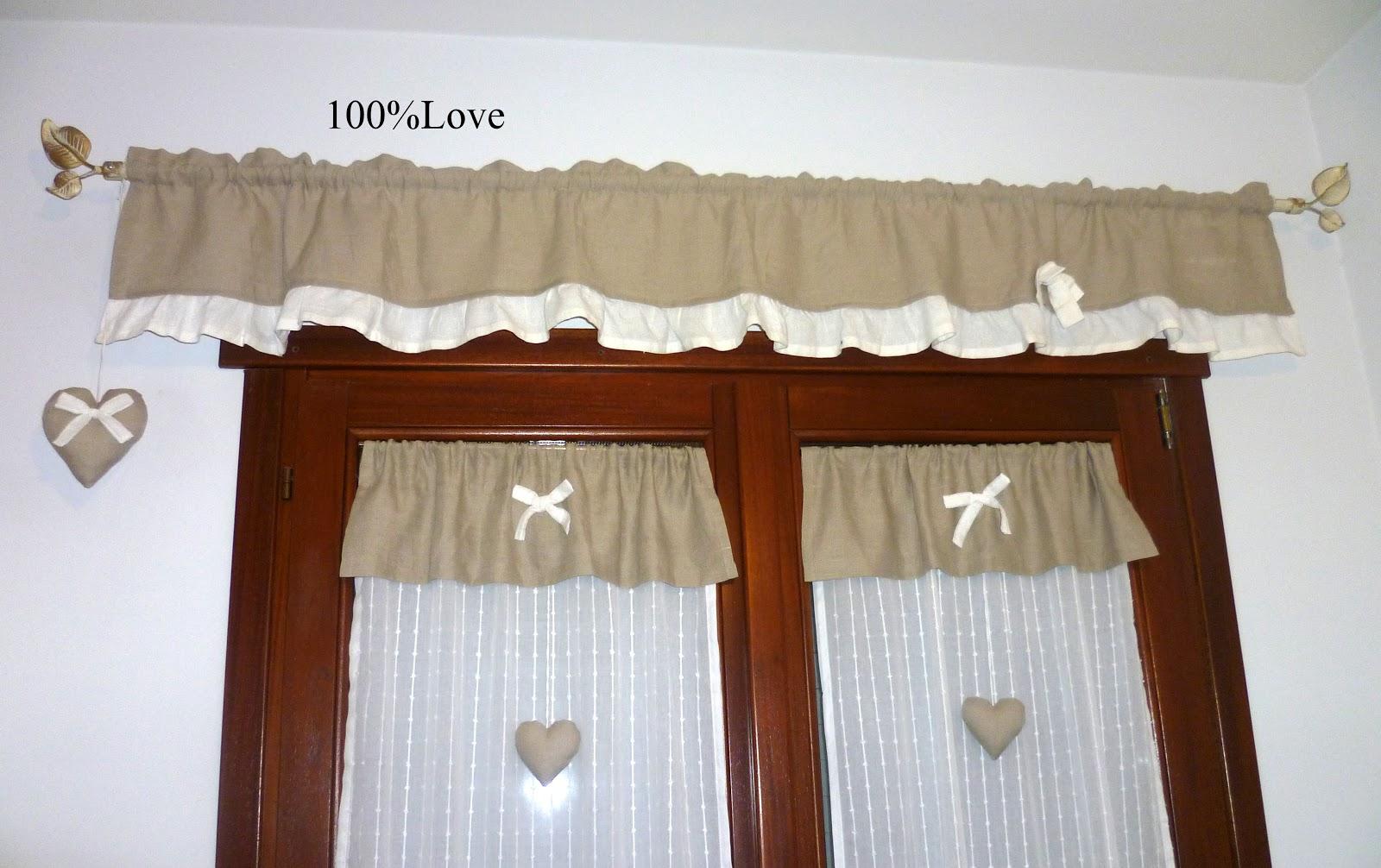 100 love tende cuori - Mantovane per cucina ...