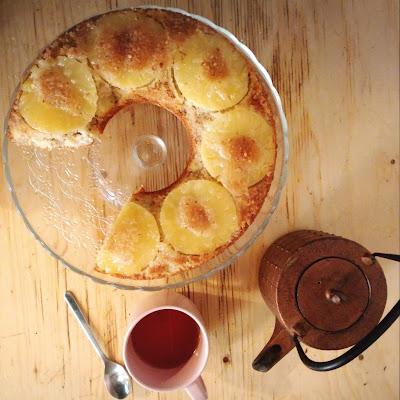 Gâteau renversé à l'ananas. Romain Pâtisseries © 2015