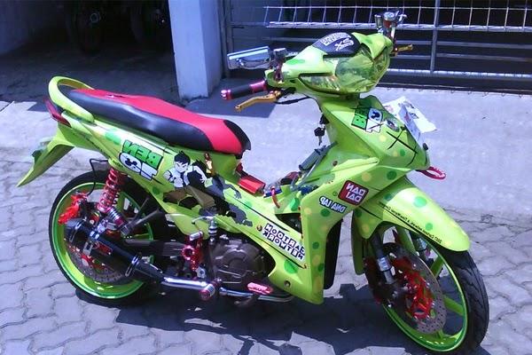 Modifikasi Motor berikan mengenai Modifikasi Motor Honda Absolute Revo  title=