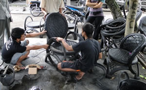 Recycled Rubber Tires Furniture from Indonesia