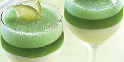 Gelatina cremosa diet de limão