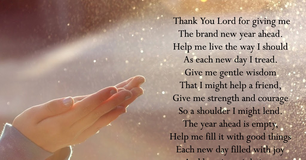 Daily Bible Verses: New Year Prayer
