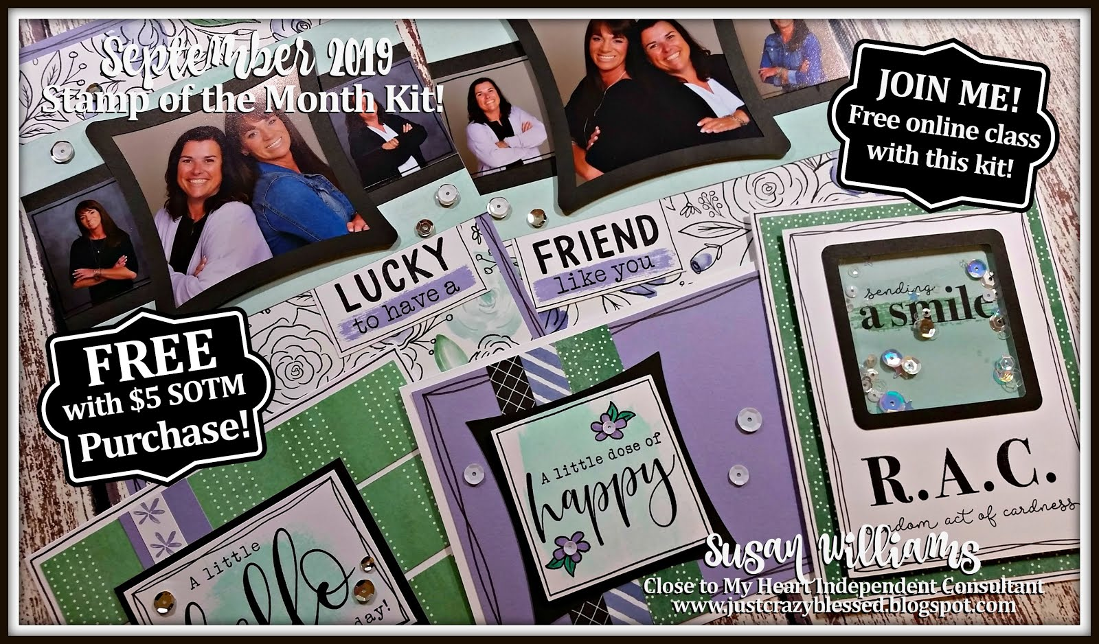 September 2019 Stamp of the Month Workshop!