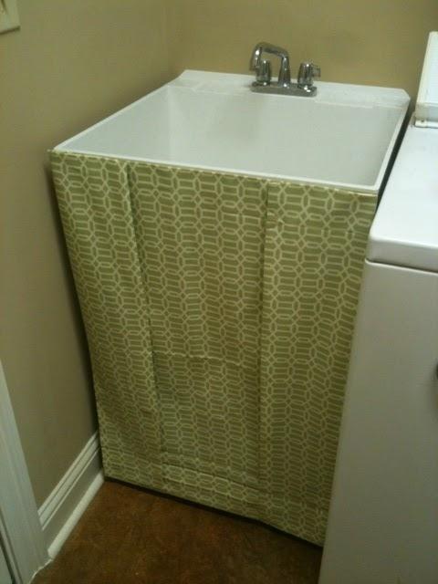 DIY Utility Sink Skirt
