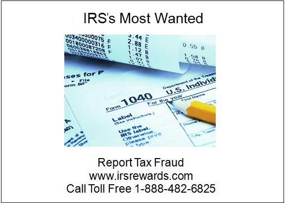 Irss Most Wanted Report Tax Fraud April 2012