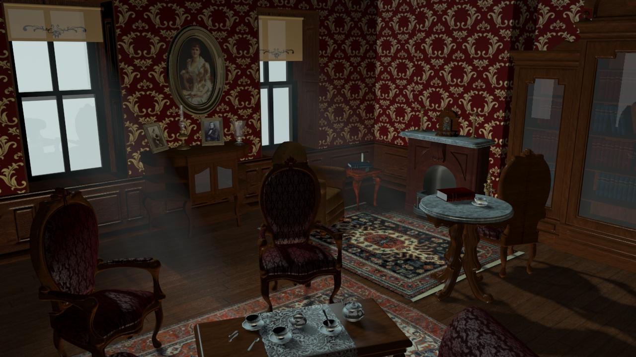 les m saventures de sophie salon victorien. Black Bedroom Furniture Sets. Home Design Ideas