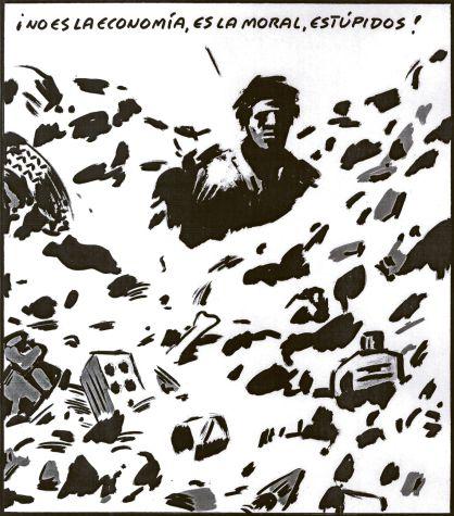 ¡No es la economía, es la moral, estúpidos! El Roto, El País, 7/6/2012